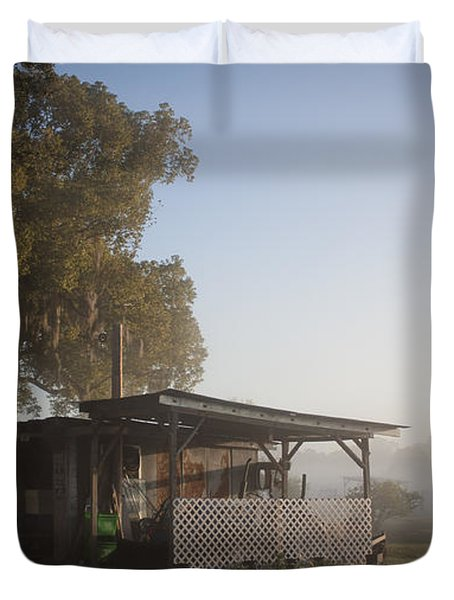 Early Morning On The Farm Duvet Cover by Lynn Palmer
