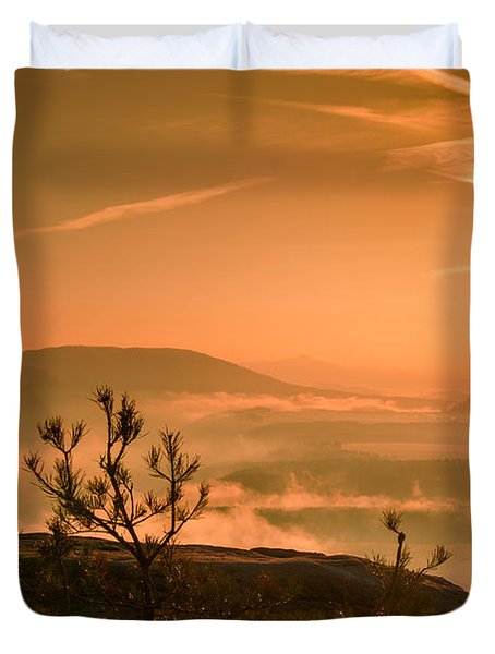 Early Morning On The Lilienstein Duvet Cover