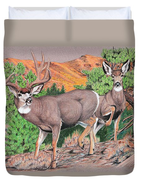 Early Morning Retreat Duvet Cover