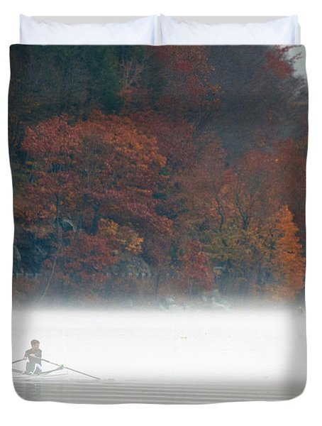 Early Morning Row Duvet Cover by Karol Livote