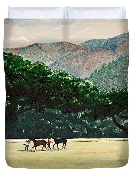 Early Morning Savannah Duvet Cover by Karin  Dawn Kelshall- Best