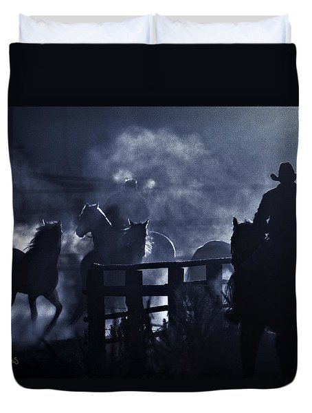 Early Morning Smoke Duvet Cover