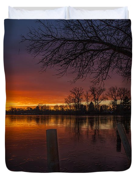 Duvet Cover featuring the photograph Early Morning Sunrise by Nicholas  Grunas