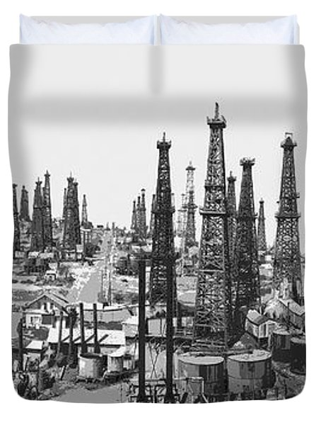 Early Oil Field Duvet Cover