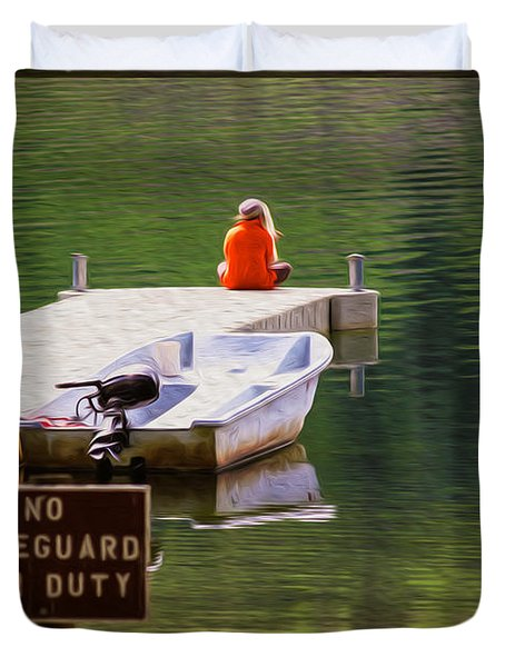 Early One Morning On Patterson Lake Duvet Cover by Omaste Witkowski