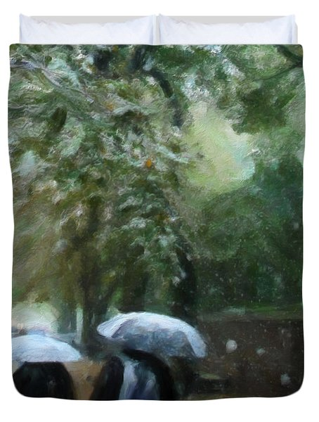 Early Snow Duvet Cover by Michael Pickett