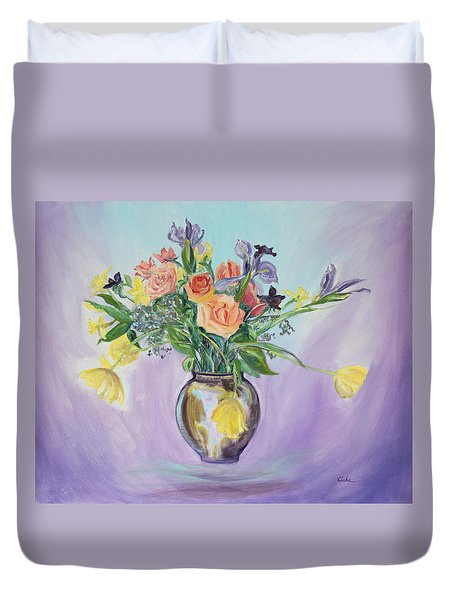 Early Spring Bouquet Duvet Cover