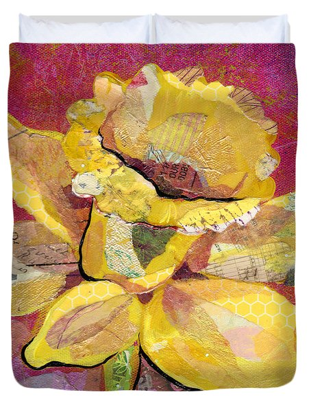 Early Spring IIi  Daffodil Series Duvet Cover by Shadia Derbyshire