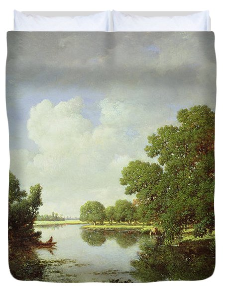 Early Summer Afternoon Duvet Cover by Pierre Etienne Theodore Rousseau