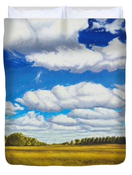 Early Summer Clouds Duvet Cover by Leonard Heid