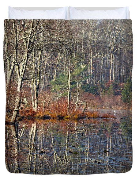 Early Winter Reflects Duvet Cover by Karol Livote