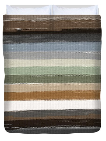 Earth Colors Duvet Cover by Lourry Legarde