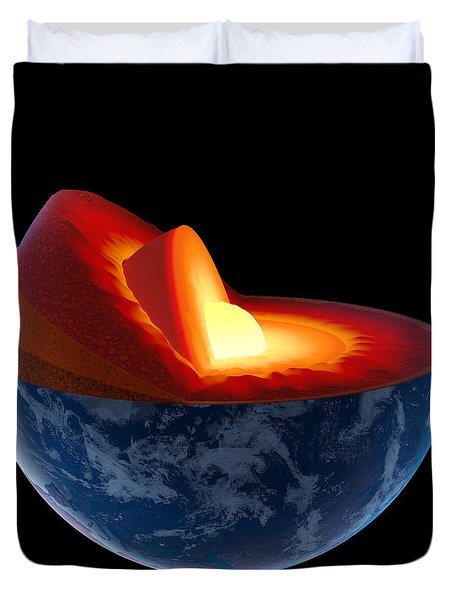 Earth Core Structure - Isolated Duvet Cover
