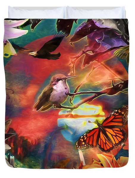 Earth Daze Duvet Cover by John Freidenberg