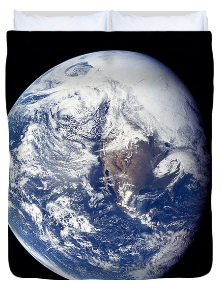 Earth From Apollo 16 Duvet Cover