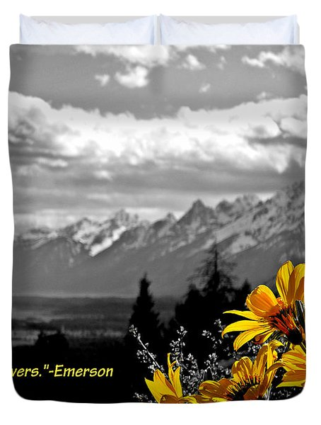 Earth Laughs In Flowers Duvet Cover by Dan Sproul
