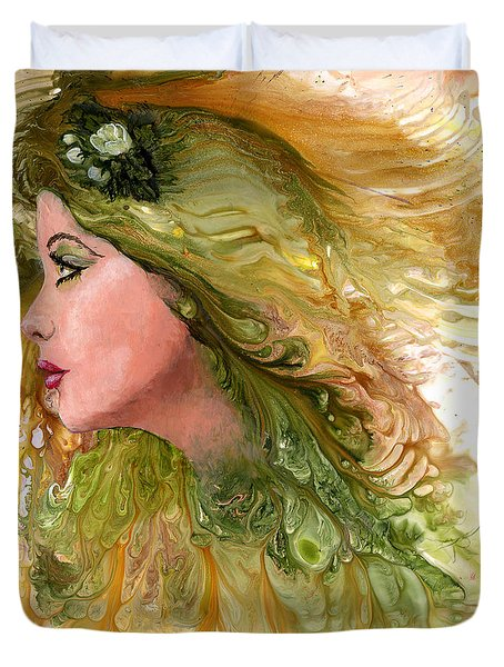 Earth Maiden Duvet Cover by Sherry Shipley