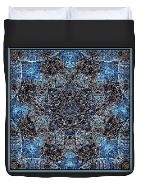Duvet Cover featuring the digital art Earth Mandala by I'ina Van Lawick