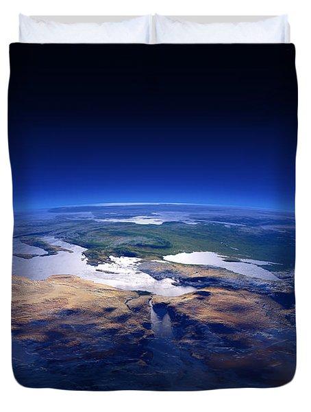 Earth - Mediterranean Countries Duvet Cover
