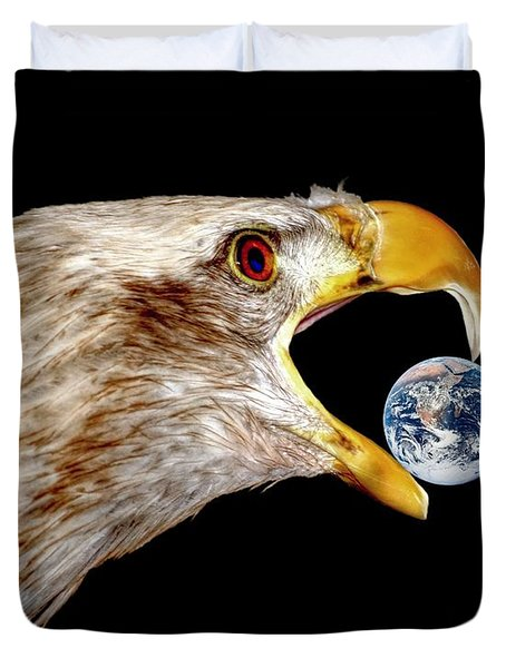 Earth Shattering Influence Duvet Cover by Patrick Witz