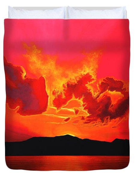 Earth Sunset Duvet Cover
