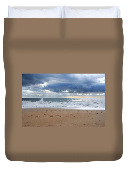 Earth's Layers - Jersey Shore Duvet Cover