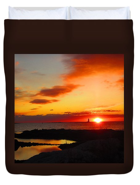 East Coast Sunrise  Duvet Cover