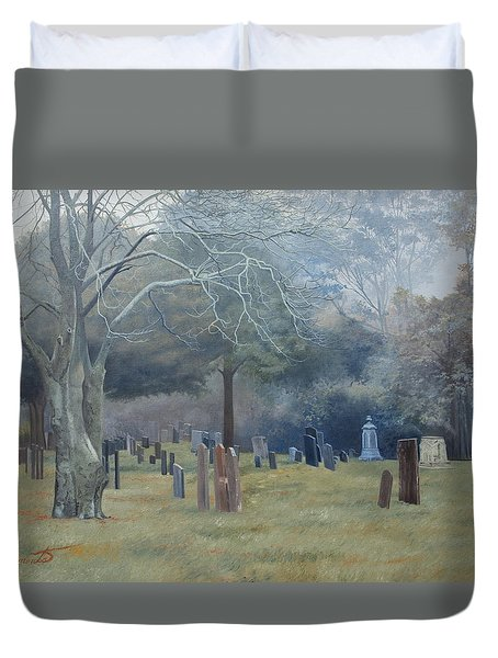 East End Cemetery Amagansett Duvet Cover