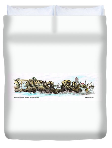 East Quoddy Lighthouse 1887 After Fenn Duvet Cover