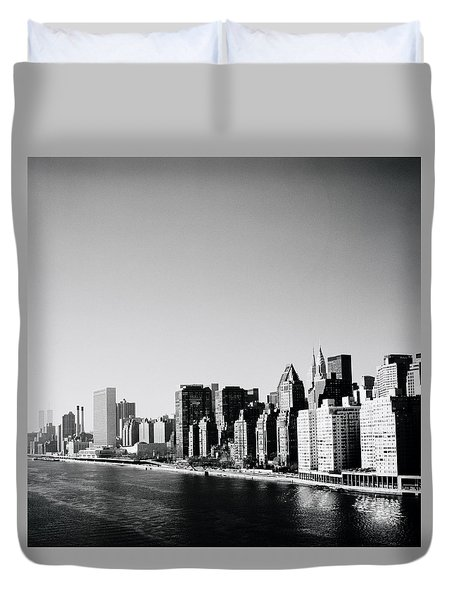East River New York Duvet Cover