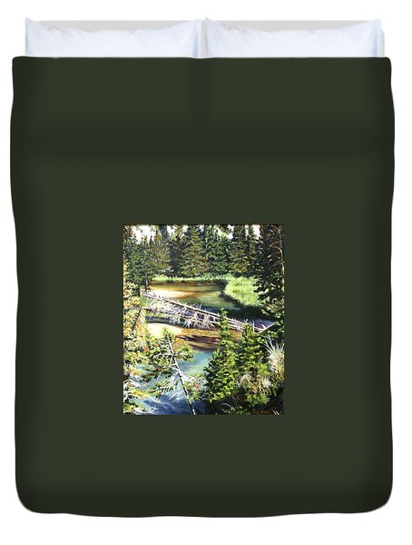 East Rosebud Inlet Stream Duvet Cover