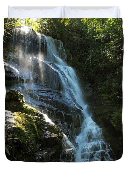 Eastatoe Falls North Carolina Duvet Cover