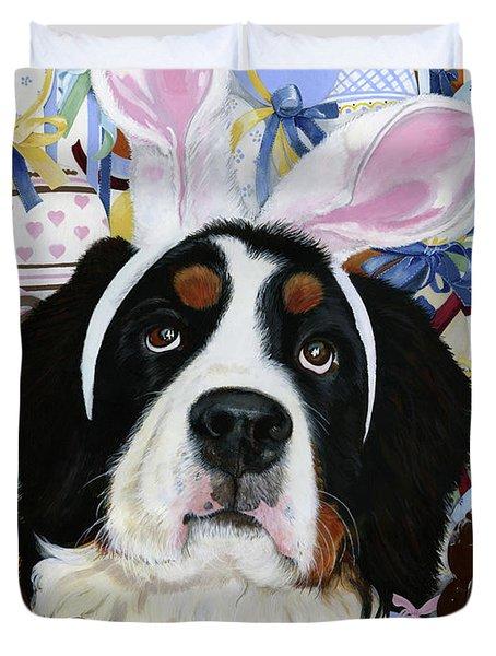 Easter Berner Bunny Duties Duvet Cover by Liane Weyers