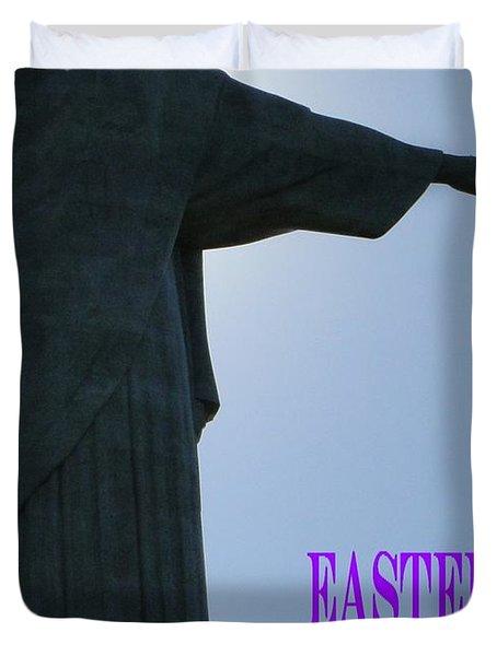 Easter Blessings Card Duvet Cover by Barbie Corbett-Newmin