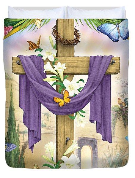 Easter Cross Duvet Cover