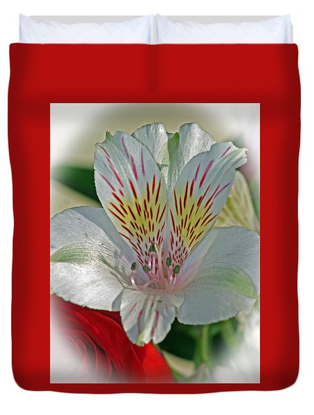 Easter Lily Duvet Cover by Karen Adams
