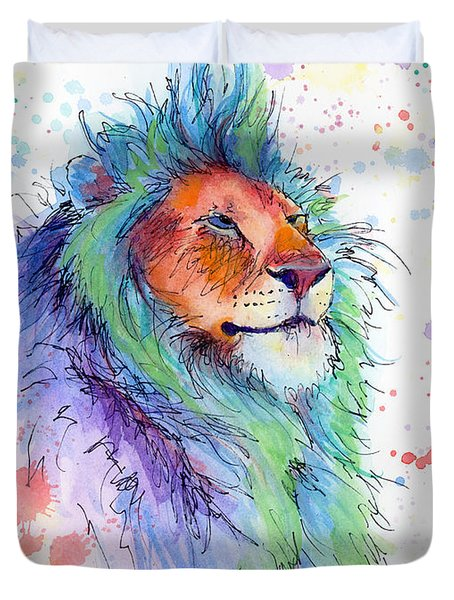 Easter Lion Duvet Cover by Arleana Holtzmann