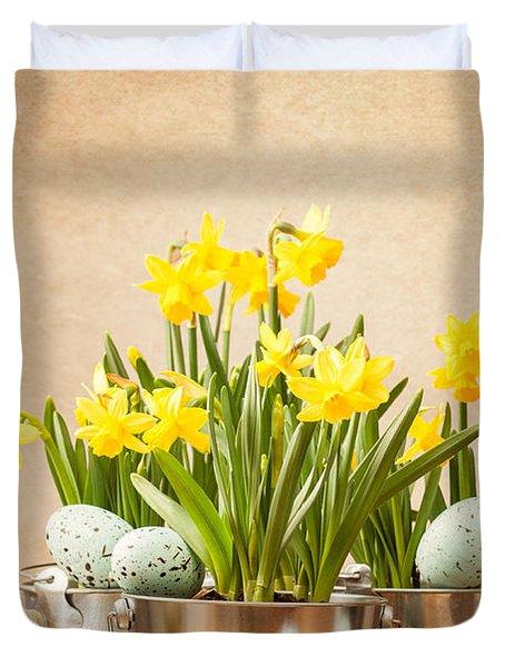 Easter Setting Duvet Cover by Amanda Elwell