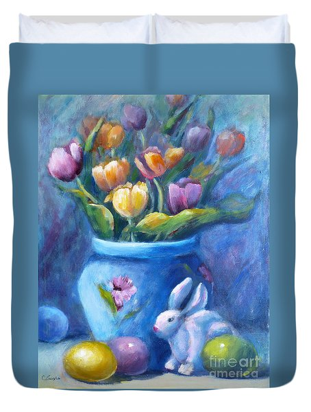 Easter Still Life Duvet Cover