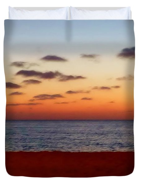 Duvet Cover featuring the photograph Easter Sunset by Amar Sheow