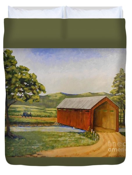 Eastern Covered Bridge Duvet Cover