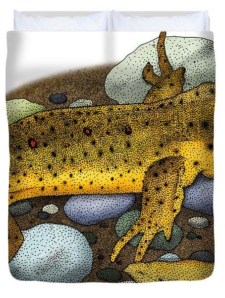 Eastern Newt Duvet Cover