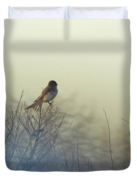 Eastern Phoebe Lacassine Pool  Lacassine Nwr Duvet Cover