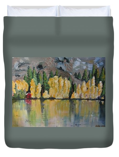 Eastern Sierra Reflections Duvet Cover