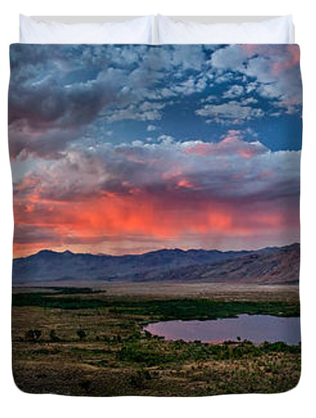 Eastern Sierra Sunset Duvet Cover