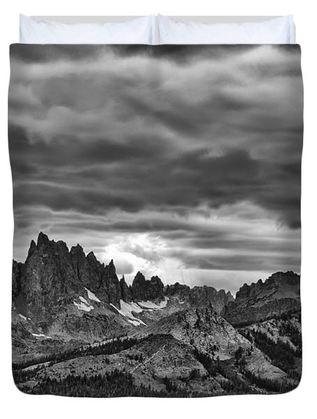 Eastern Sierras Summer Storm Duvet Cover by Terry Garvin