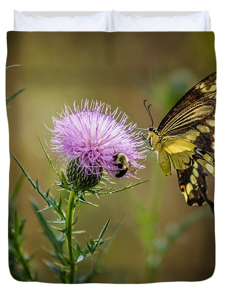 Eastern Swallowtail Butterfly Duvet Cover
