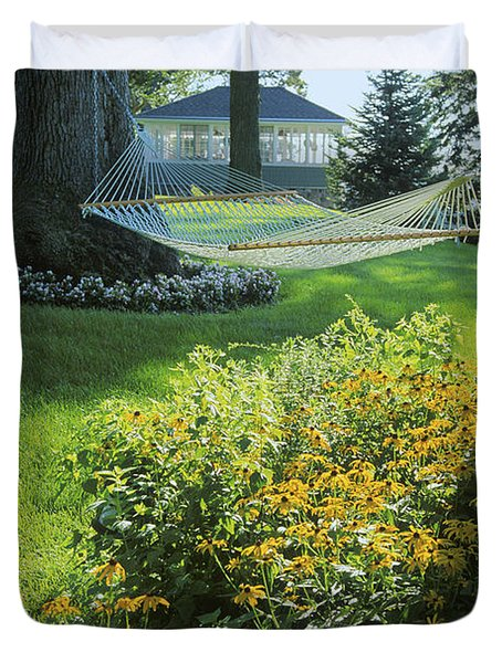 Easy Living - Lake Geneva Wisconsin Duvet Cover