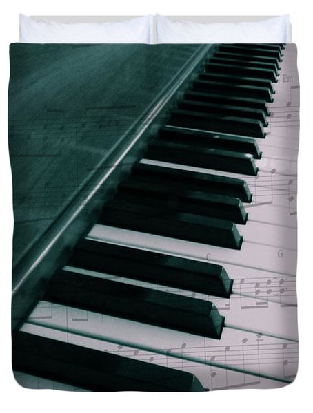 Eat Sleep Play Piano Duvet Cover by Dan Sproul