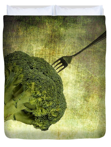 Eat Your Broccoli Duvet Cover